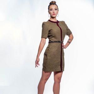 Retro wool dress